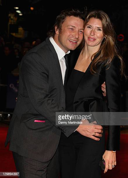 Jamie Oliver and wife Jools Oliver attend the screening of 'Take Shelter' at The 55th BFI London Film Festival at Vue West End on October 21 2011 in...