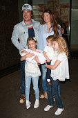 Jamie Oliver and wife Jools Oliver with daughters poppy Honey Daisy Boo and Blossom Rainbow leave Portland Hospital with their newborn baby son Buddy...