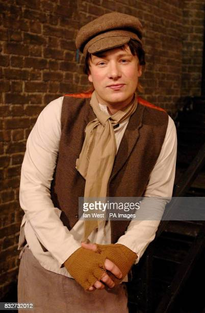 Jamie Oliver as Oliver Twist films a sketch for the Friday Night Project at the London Studios in central London