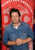Jamie Oliver attends a fundraising telethon to raise money for the DEC Philippines Typhoon Appeal on November 18 2013 in London England