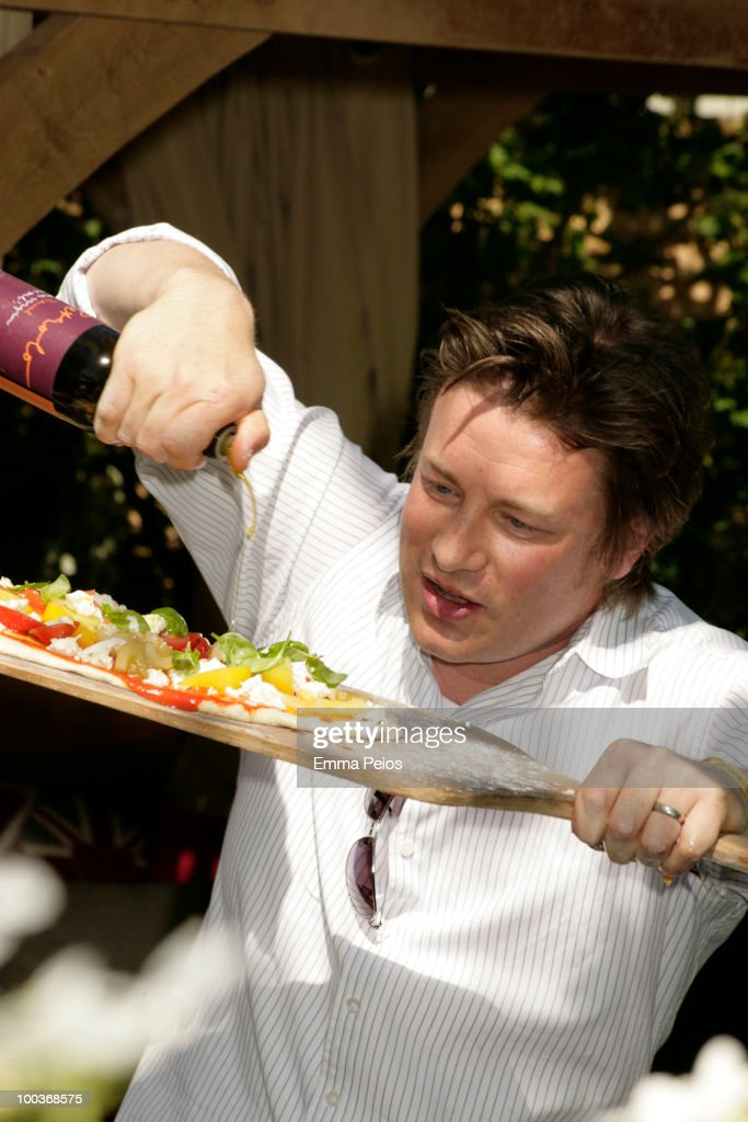 Jamie Oliver attends the Press & VIP preview at The Chelsea Flower Show at Royal Hospital Chelsea on May 24, 2010 in London, England.