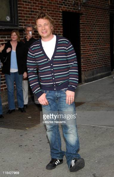 Jamie Oliver during Tom Cruise Visits 'The Late Show With David Letterman' May 2 2006 at Ed Sullivan Theatre in New York City New York United States