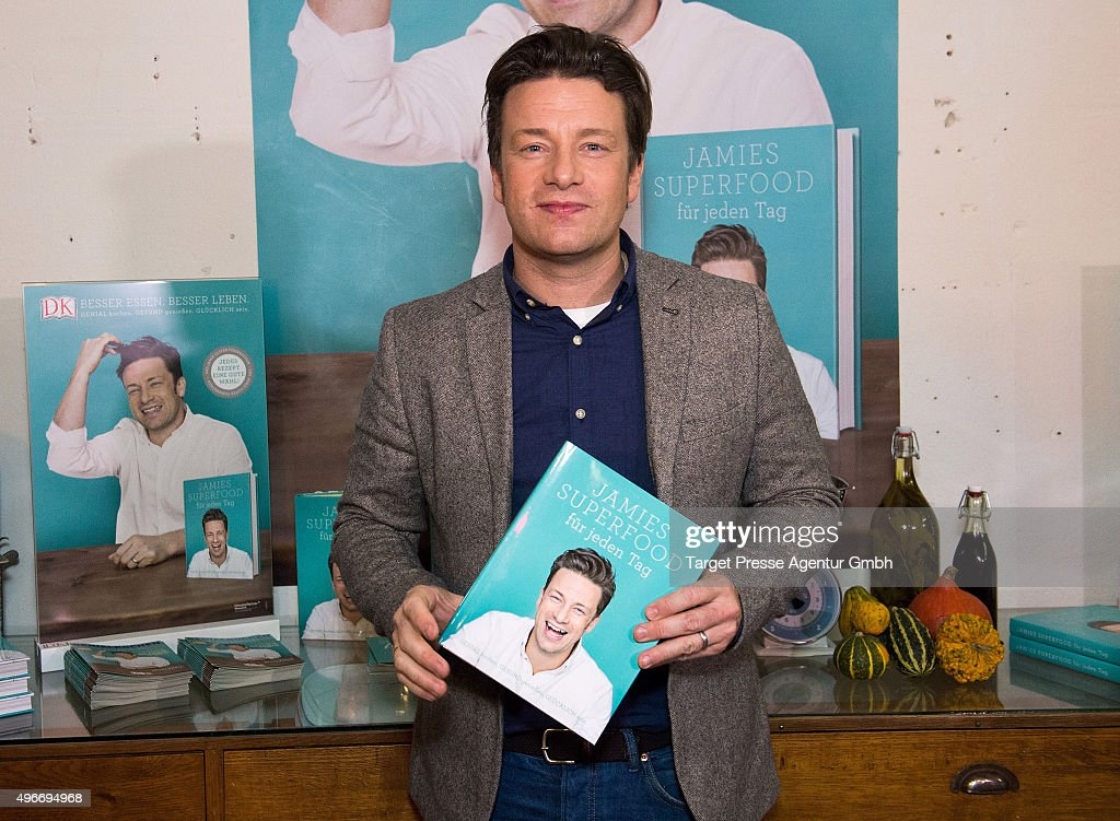 Jamie Oliver Presents His New Book 'Everyday Super Food' In Berlin