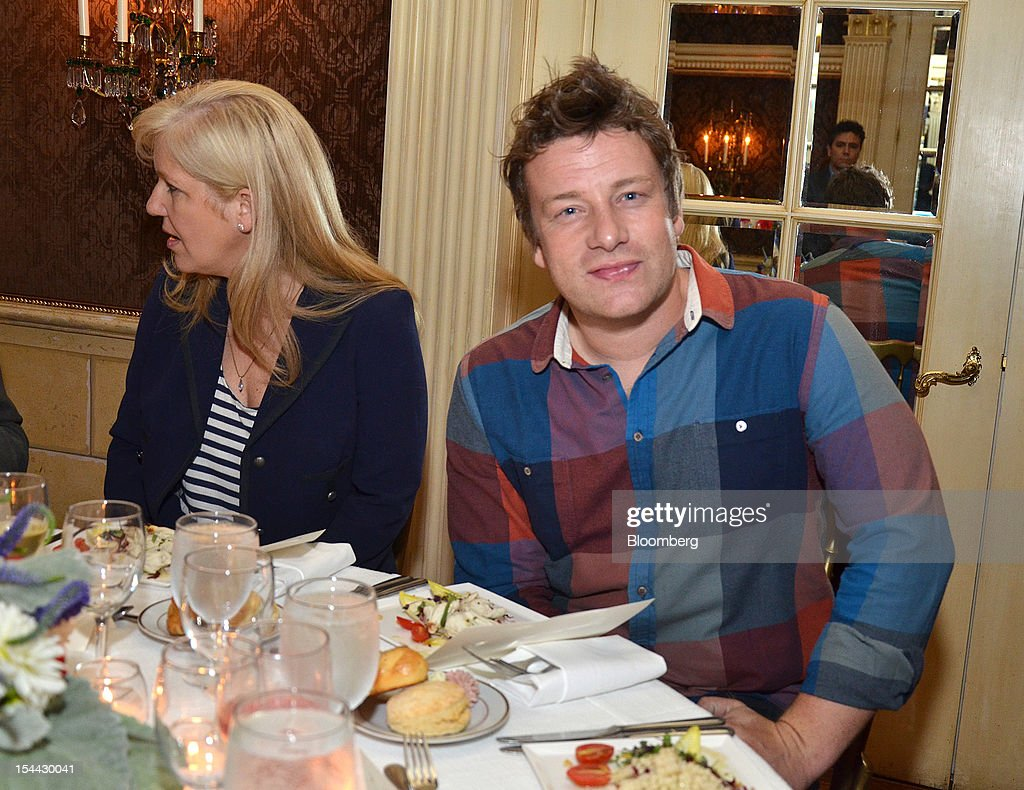 Jamie Oliver, the chef and founder of the Better Food Foundation, sits for a photo at the One Young World Summit in Pittsburgh, Pennsylvania, U.S., on Thursday, Oct. 18, 2012. The One Young World Summit is a gathering of 1,200 delegates, age 18 to 25, from more than 180 countries, selected for their interest in leading social change. Photographer: Amanda Gordon/Bloomberg via Getty Images