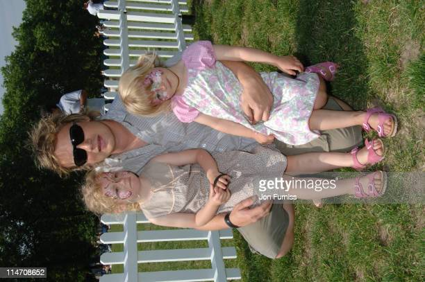 Jamie Oliver with his Children Poppy and Daisy during BUPA Capital 10k at Hyde Park in London Great Britain