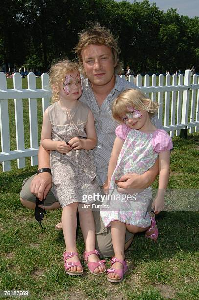 Jamie Oliver with his Children Poppy and Daisy