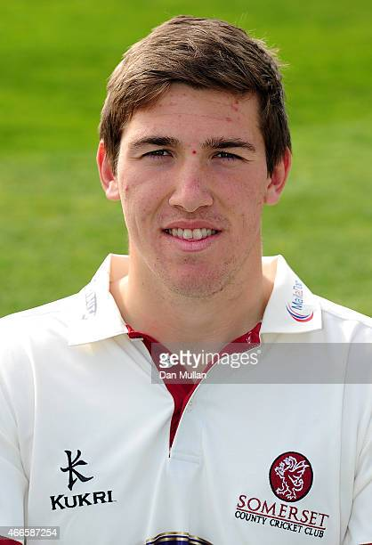 Jamie Overton of Somerset poses during the Somerset CCC Photocall at The County Ground on March 17 2015 in Taunton England
