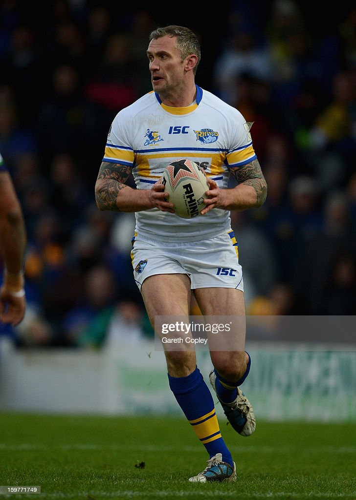 Jamie Peacock of Leeds during Rugby League pre-season friendly between Leeds Rhinos and Bradford Bulls at Headingley Stadium on January 20, 2013 in Leeds, England.