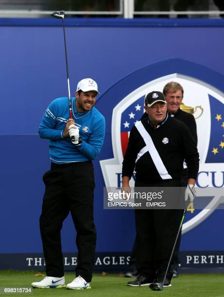 Jamie Redknapp and Ian Woosnam during the ProCelebrity Challenge