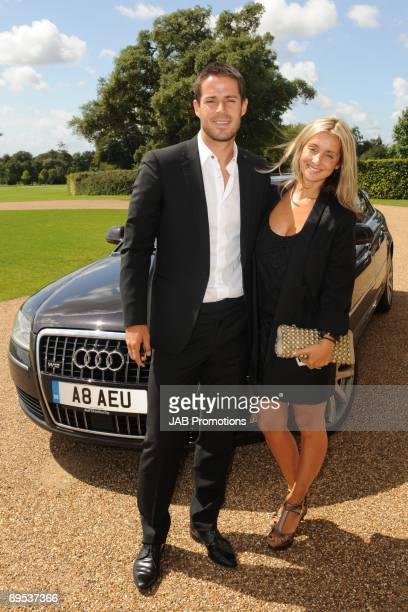 COVERAGE*** Jamie Redknapp and Louise Redknapp attends private lunch hosted by Audi at Goodwood on July 30 2009 in Chichester England