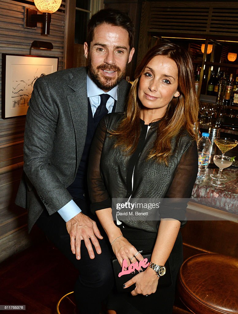 Jamie Redknapp (L) and Louise Redknapp attends the launch of Tracey Emin and Stephen Webster's new jewellery collection 'I Promise To Love You' at 34 Grosvenor Square on February 22, 2016 in London, England.