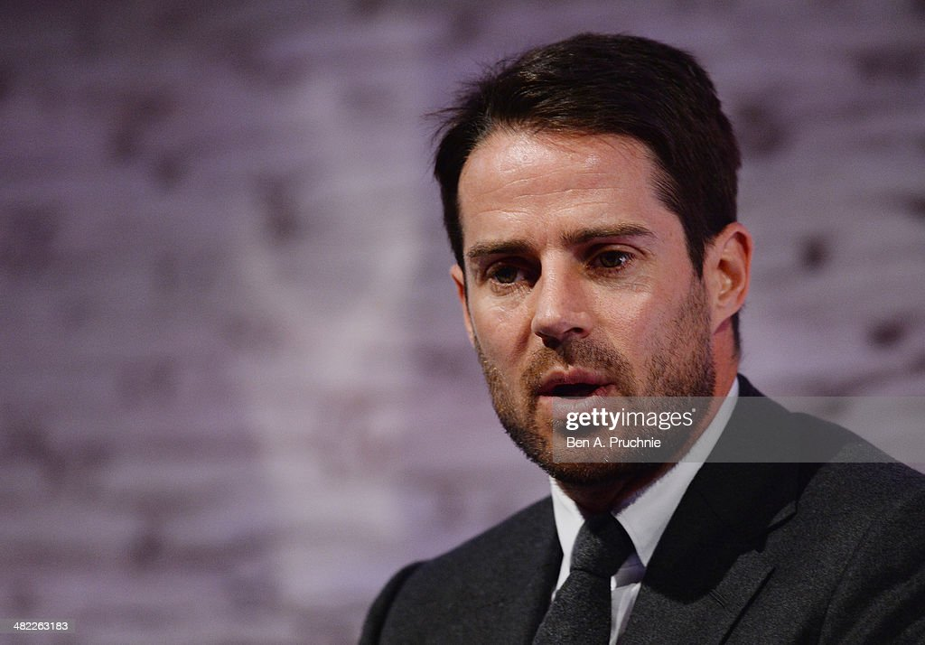 Jamie Redknapp Former England and Liverpool midfielder Daily Mail and MailOnline columnist Sky Sports pundit at It's all Kicking Off at the ITV Stage...
