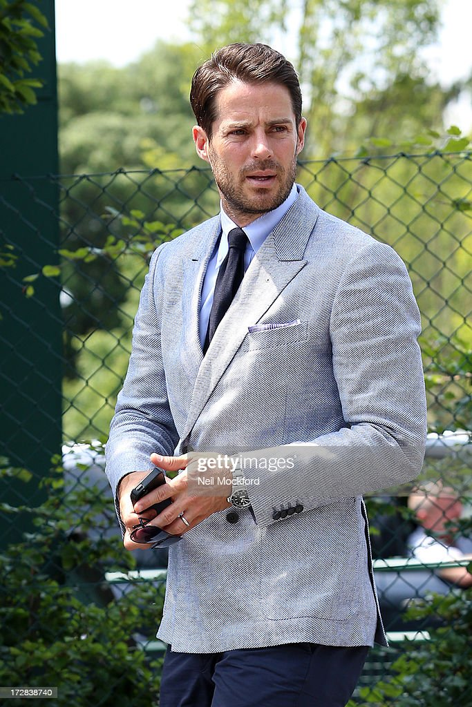 <a gi-track='captionPersonalityLinkClicked' href=/galleries/search?phrase=Jamie+Redknapp&family=editorial&specificpeople=206242 ng-click='$event.stopPropagation()'>Jamie Redknapp</a> seen at Wimbledon on Men's Semi-Final day on July 5, 2013 in London, England.
