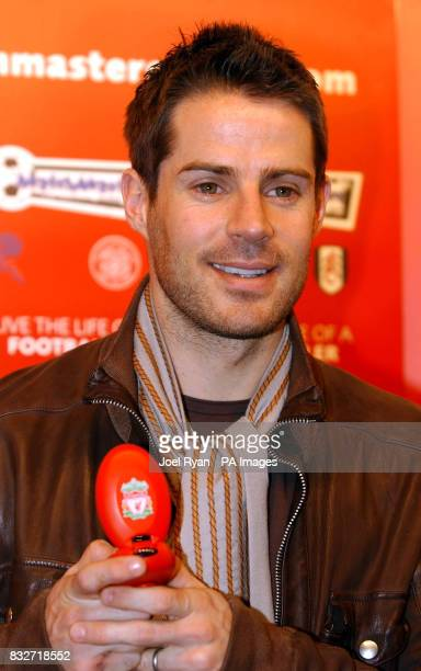 Jamie Redknapp unveils the new Matchmaster electronic football game at the Toyfair 2007 at the ExCel Centre in east London