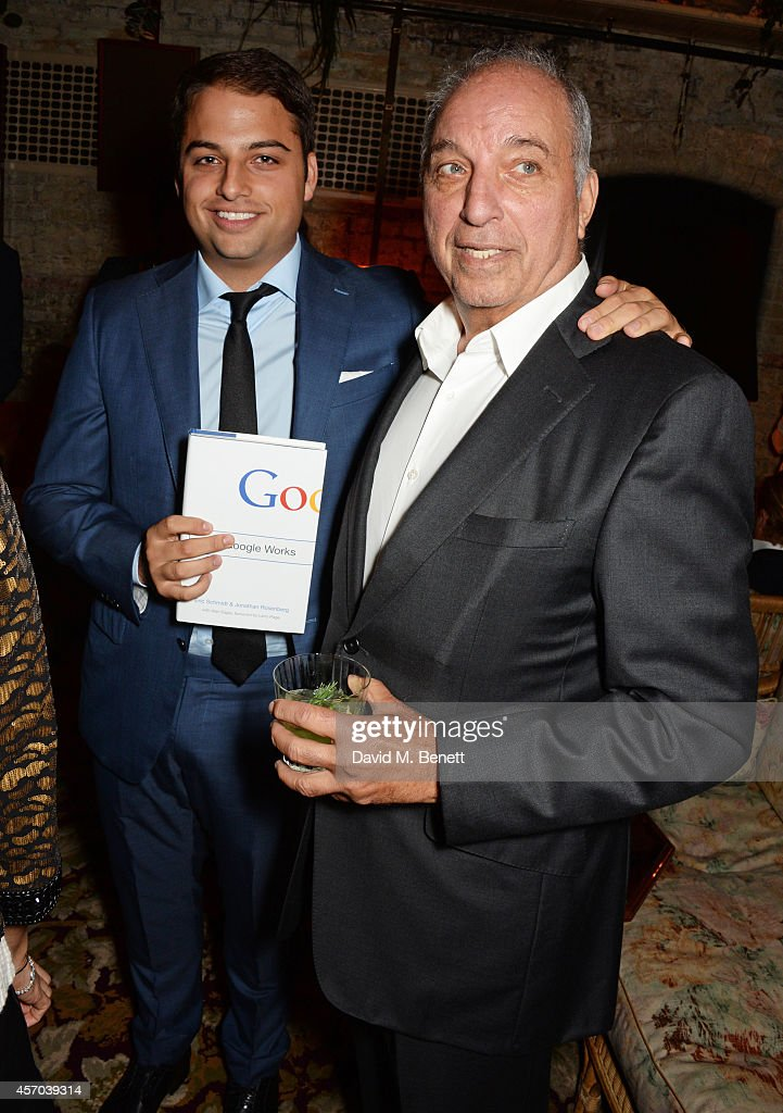 Jamie Reuben (L) and David Reuben attend the book launch party for 'How Google Works' by Eric Schmidt and Jonathan Rosenberg, hosted by Jamie Reuben, at The Chiltern Firehouse on October 10, 2014 in London, England.