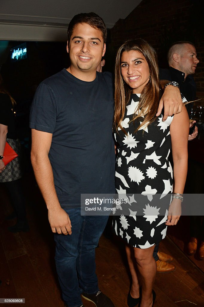 Jamie Reuben and Lisa Reuben attend the launch of Restaurant Ours in Kensington on April 27 2016 in London England