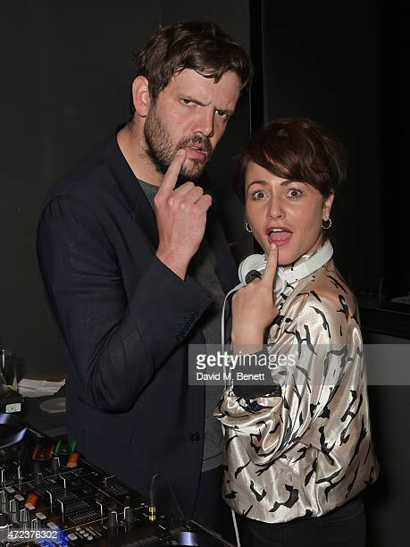 Jamie Reynolds and Jaime Winstone attend the St Martins Lane hotel relaunch party at Blind Spot on May 6 2015 in London England