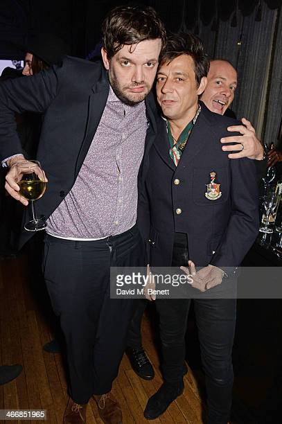 Jamie Reynolds and Jamie Hince attend the InStyle Best of British Talent party in celebration of BAFTA in association with Lancome and Sky Living at...