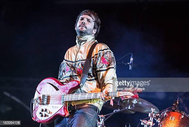 Jamie Reynolds from Klaxons performs at We Love Green Festival at Parc de Bagatelle on September 15 2012 in Paris France
