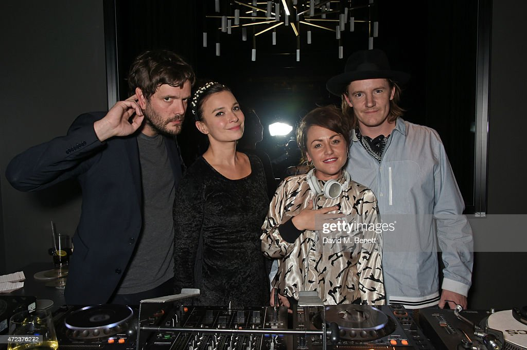 Jamie Reynolds Gizzi Erskine Jaime Winstone and James Suckling attend the St Martins Lane hotel relaunch party at Blind Spot on May 6 2015 in London...