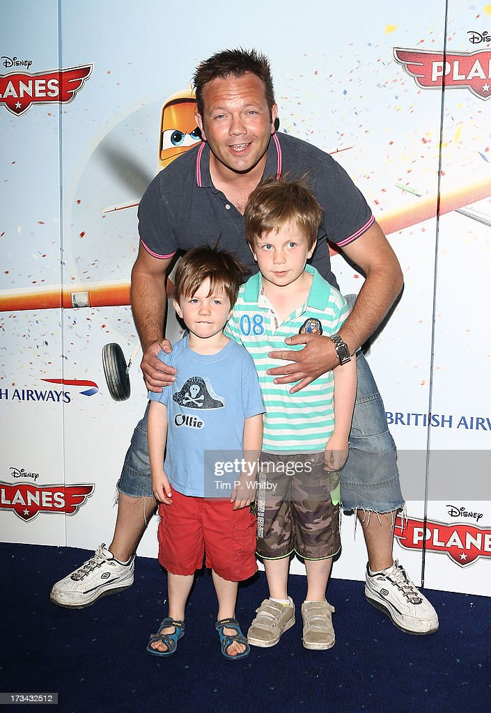 Jamie Rickers and guests attend a special screening of Disney's 'Planes' at Odeon Leicester Square on July 14, 2013 in London, England.