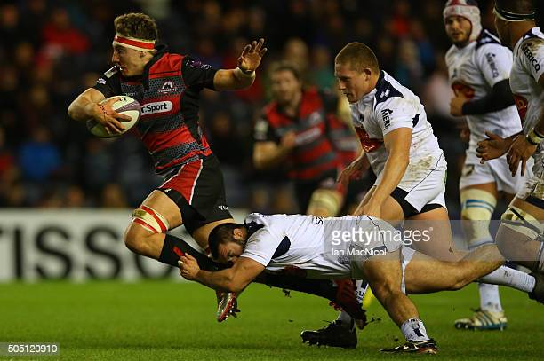 Jamie Ritchie of Edinburgh Rugby runs with the ball during the European Rugby Challenge Cup match between Edinburgh Rugby and Agen at Murrayfield...