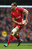 Jamie Roberts of Wales during the RBS Six Nations match between Wales and Ireland at the Millennium Stadium on March 14 2015 in Cardiff Wales