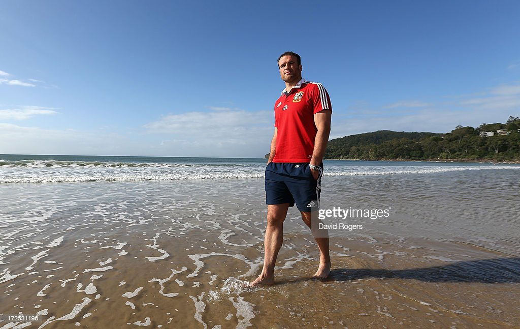 <a gi-track='captionPersonalityLinkClicked' href=/galleries/search?phrase=Jamie+Roberts&family=editorial&specificpeople=3530992 ng-click='$event.stopPropagation()'>Jamie Roberts</a>, who will play at centre for the British and Irish Lions in the third and final test against the Wallabies, poses on Noosa Beach on July 3, 2013 in Noosa, Australia.