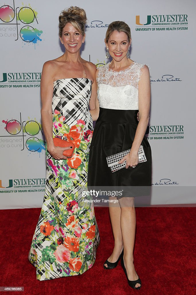 Jamie Rusk and Denie Harris arrive to Designed For A Cure 2014 Benefiting Sylvester Comprehensive Cancer Center on February 13, 2014 in Miami, Florida.