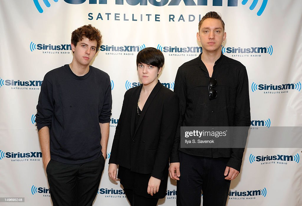 Jamie Smith Romy MadleyCroft and Oliver Sim of the band The xx visit SiriusXM Studio on August 2 2012 in New York City