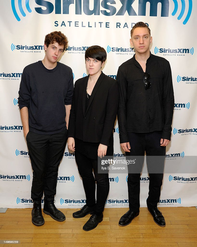 Jamie Smith, Romy Madley-Croft and Oliver Sim of the band The xx visit SiriusXM Studio on August 2, 2012 in New York City.