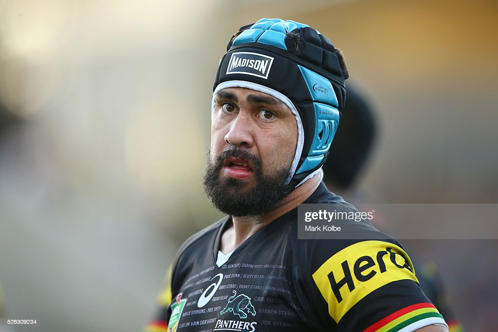 <a gi-track='captionPersonalityLinkClicked' href=/galleries/search?phrase=Jamie+Soward&family=editorial&specificpeople=2327643 ng-click='$event.stopPropagation()'>Jamie Soward</a> of the Panthers watches on during the round nine NRL match between the Penrith Panthers and the Canberra Raiders at Carrington Park on April 30, 2016 in Bathurst, Australia.