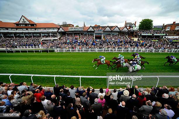 Jamie Spencer riding Address Unknown win the Stanjamescom Chester Cup at Chester racecourse on May 08 2013 in Chester England