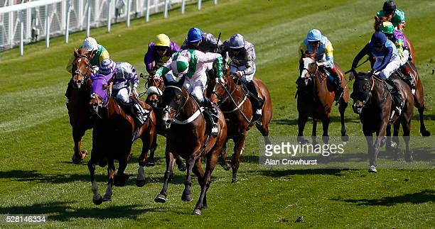 Jamie Spencer riding No Heretic win The Betway Chester Cup at Chester racecourse on May 4 2016 in Chester England