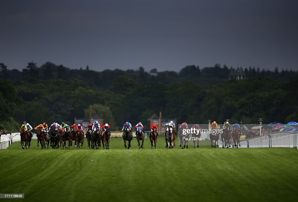 <a gi-track='captionPersonalityLinkClicked' href=/galleries/search?phrase=Jamie+Spencer&family=editorial&specificpeople=208902 ng-click='$event.stopPropagation()'>Jamie Spencer</a> riding on York Glory (C) leads the field on his way to winning The Wokingham Stakes during day five of Royal Ascot at Ascot Racecourse on June 22, 2013 in Ascot, England.