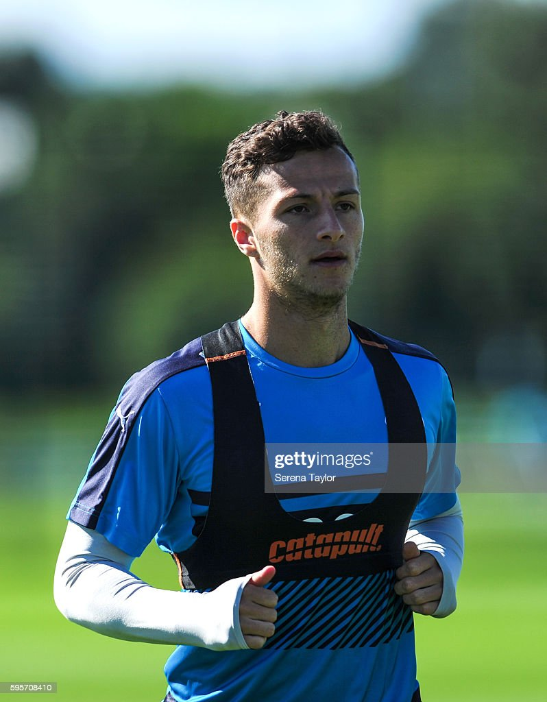 Jamie Sterry during the Newcastle United Training Session at The Newcastle United Training Centre on August 26 in Bristol England