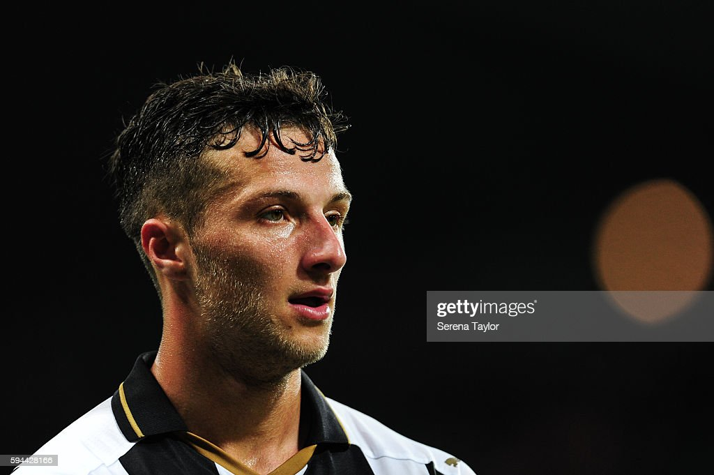 Jamie Sterry of Newcastle United during the EFL cup between Newcastle United and Cheltenham Town at StJames' Park on August 23 in Newcastle upon Tyne...