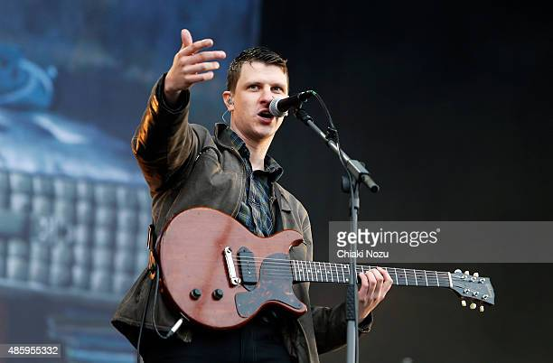 Jamie T performs on Day 3 of The Reading Festival at Richfield Avenue on August 30 2015 in Reading England