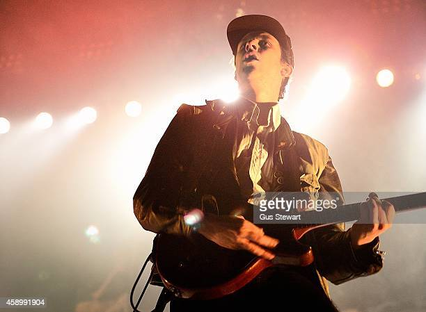 Jamie T performs on stage at Alexandra Palace on November 14 2014 in London United Kingdom