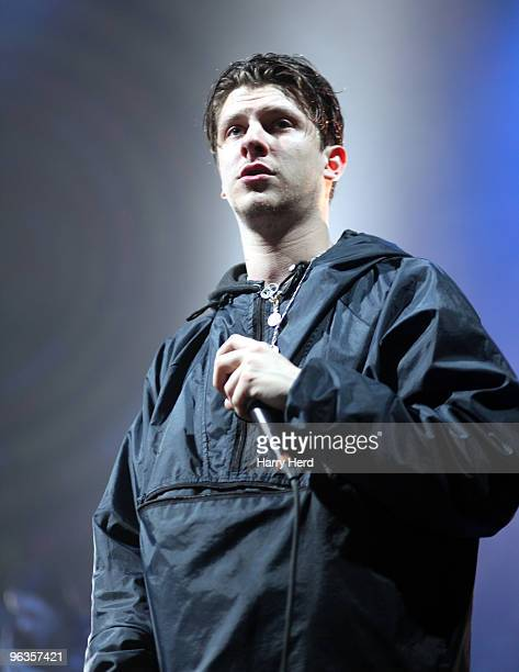 Jamie T performs on stage at Southampton Guildhall on February 2 2010 in Southampton England