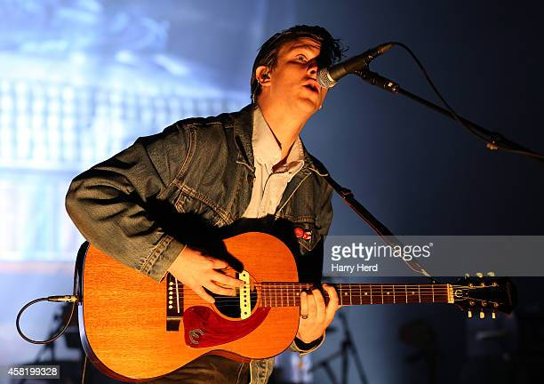 Jamie T performs on stage at Southampton Guildhall on October 31 2014 in Southampton United Kingdom