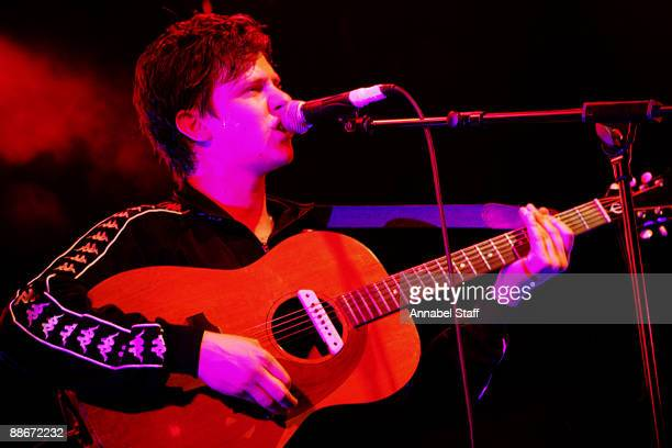 Jamie T performs on stage at the Electric Ballroom on June 24 2009 in London England