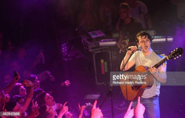 Jamie T performs on stage at The Kazimier on July 30 2014 in Liverpool United Kingdom
