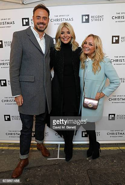 Jamie Theakston Holly Willoughby and Emma Bunton attend the Regent Street Christmas Lights switch on event with Heart at Regent Street on November 17...