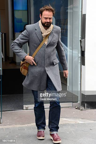 Jamie Theakston sighted leaving Global Radio offices on March 27 2013 in London England