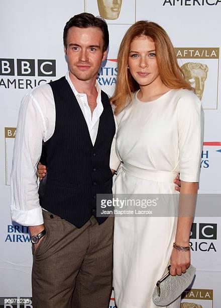 Jamie Thomas King and Rachelle Lefevre arrive at the BAFTA LA's 2009 Primetime Emmy Awards TV Tea Party at InterContinental Hotel on September 19...