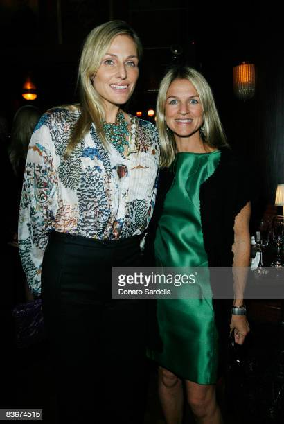 Jamie Tisch and Crystal Lourd attend a dinner for Alberta Ferretti hosted by Vogue at Bar Marmont on November 12 2008 West Hollywood California