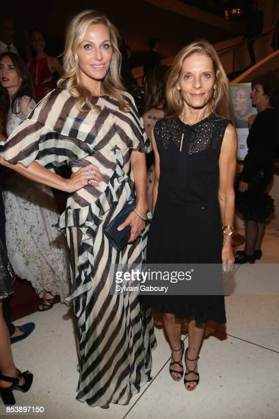 Jamie Tisch and Sandra Brant attend Metropolitan Opera Opening Night Gala at Lincoln Center on September 25 2017 in New York City