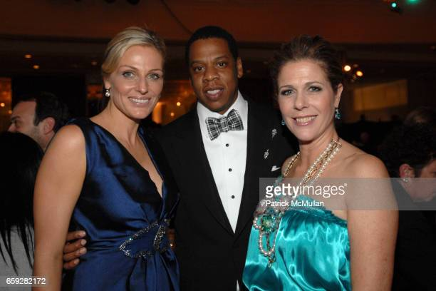 Jamie Tisch Jay Z and Rita Wilson attend Unforgettable Evening Benefiting The Entertainment Industry Foundation at Beverly Wilshire Hotel on February...