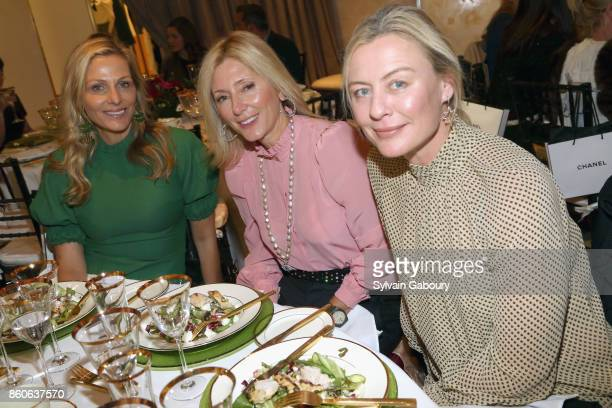 Jamie Tisch MarieChantal of Greece and Renee Rockefeller attend Saks Fifth Avenue Luncheon to Benefit City Harvest at Saks Fifth Avenue on October 12...